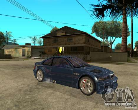 BMW M3 GTR de Need for Speed Most Wanted para GTA San Andreas vista direita