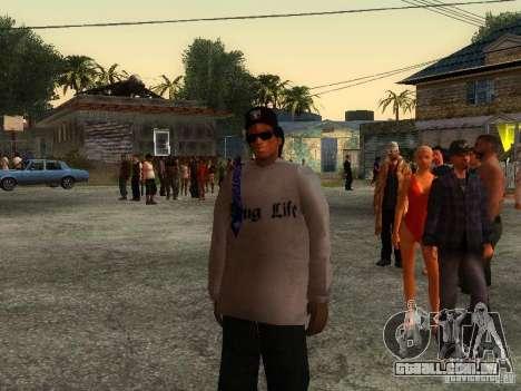 Crips para GTA San Andreas por diante tela