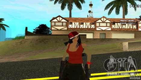 Chicano Chick Skin para GTA San Andreas segunda tela