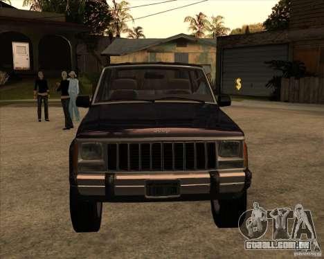 Jeep Cherokee para GTA San Andreas traseira esquerda vista
