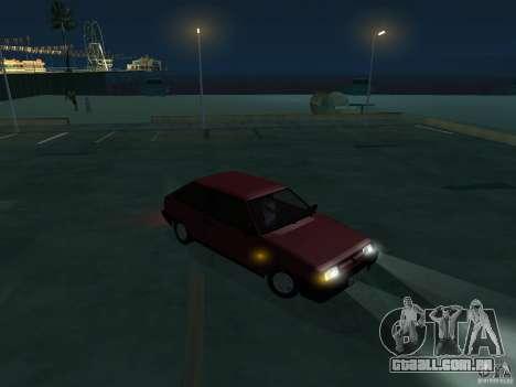 VAZ 2108 dreno para GTA San Andreas vista traseira