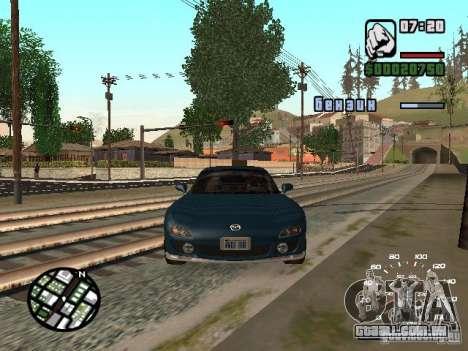Mazda RX-7 para GTA San Andreas traseira esquerda vista