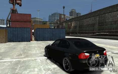 BMW 330i E60 Tuned 1 para GTA 4 traseira esquerda vista