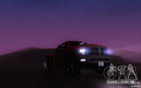 Dodge Ram 3500 Laramie 2010 para GTA San Andreas vista interior