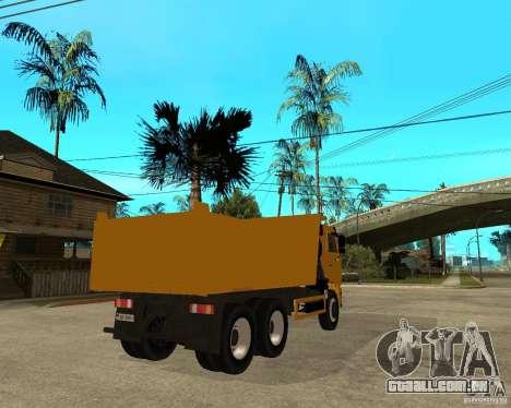 KAMAZ 6520 TAI para GTA San Andreas traseira esquerda vista