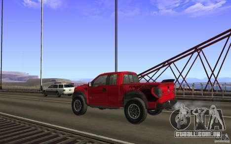 Ford F150 SVT RapTor para GTA San Andreas interior