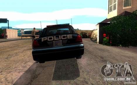 Ford Crown Victoria para GTA San Andreas vista traseira