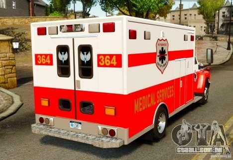 GMC C5500 Topkick Ambulance para GTA 4 traseira esquerda vista