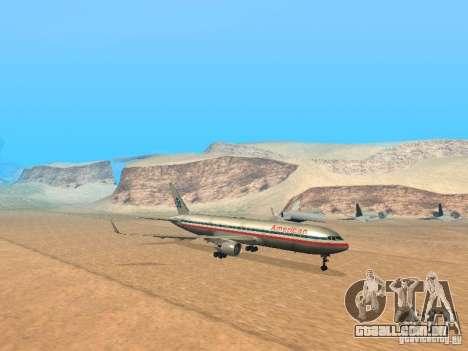 Boeing 767-300 American Airlines para GTA San Andreas esquerda vista
