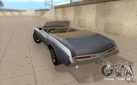 Buick Riviera GS 1969 para GTA San Andreas traseira esquerda vista