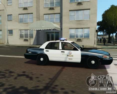 Ford Crown Victoria LAPD para GTA 4 vista superior