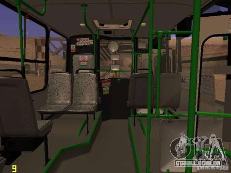 Ikarus C63 para GTA San Andreas vista traseira