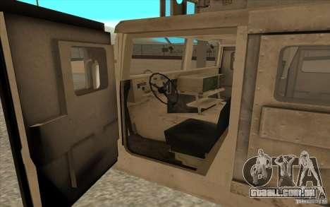 Hummer H1 Military HumVee para GTA San Andreas vista traseira