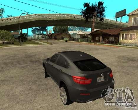 BMW X6 M para GTA San Andreas esquerda vista