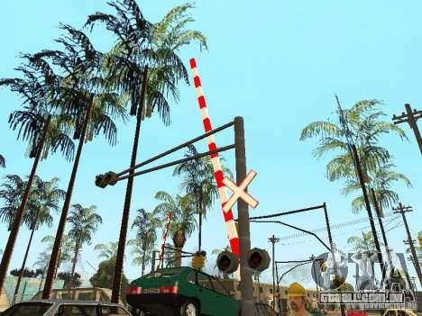 FERROVIÁRIA atravessando RUS para GTA San Andreas por diante tela