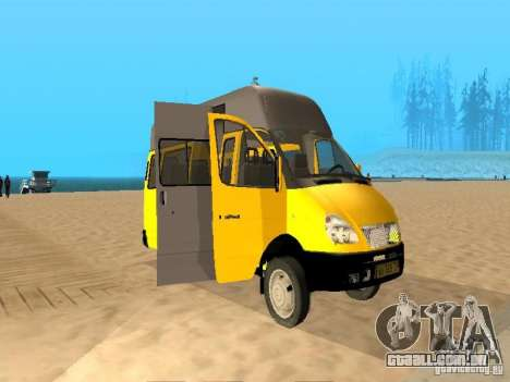 Táxi de gazela 32213 para GTA San Andreas esquerda vista
