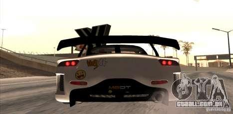 Mazda RX-7 MyGame Drift Team para GTA San Andreas traseira esquerda vista