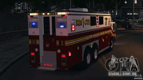 FDNY Rescue 1 [ELS] para GTA 4 interior
