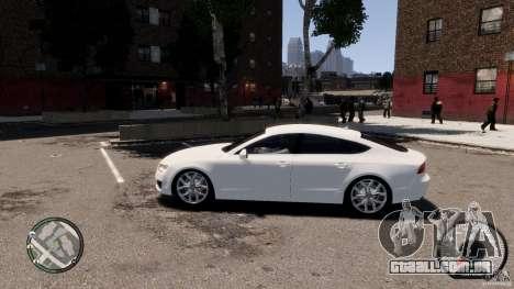 Audi A7 Sportback para GTA 4 esquerda vista