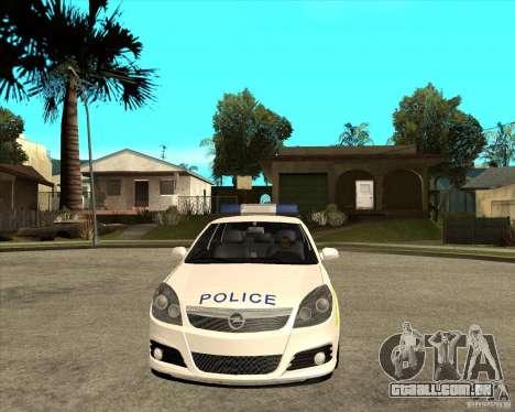 2005 Opel Vectra Police para GTA San Andreas vista traseira