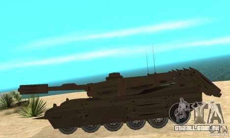 Rinoceronte do tanque Megatron para GTA San Andreas esquerda vista