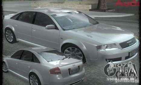 Audi RS6 (A6) para GTA San Andreas vista traseira