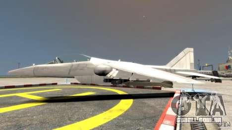 Liberty City Air Force Jet para GTA 4 esquerda vista