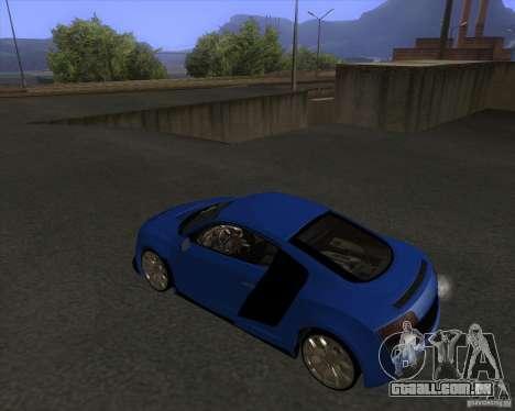 Audi R8 5.2 FSI para GTA San Andreas esquerda vista