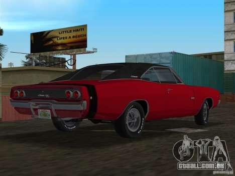 Dodge Charger 426 R/T 1968 v1.0 para GTA Vice City deixou vista