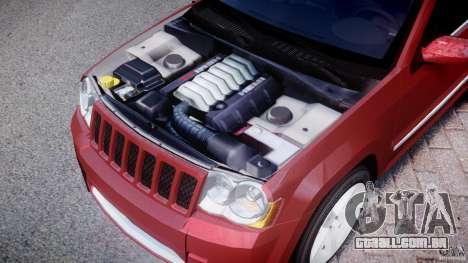 Jeep Grand Cherokee para GTA 4 vista interior