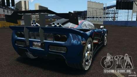 McLaren F1 ELITE para GTA 4 traseira esquerda vista