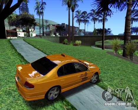Ford Falcon XR8 Taxi para GTA San Andreas esquerda vista