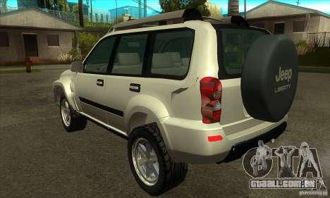 Jeep Liberty 2007 para GTA San Andreas traseira esquerda vista