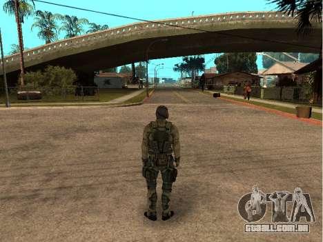 O engenheiro do exército de pele para GTA San Andreas segunda tela
