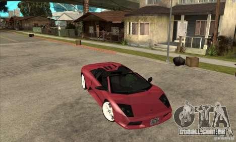Lamborghini Murcielago Roadster Final para GTA San Andreas vista traseira