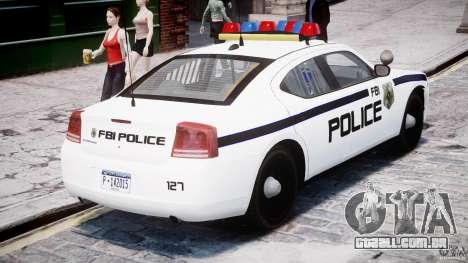 Dodge Charger FBI Police para GTA 4 vista superior