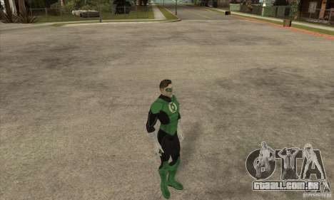 Green Lantern para GTA San Andreas terceira tela