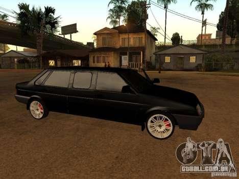 VAZ 21099 Limousine para GTA San Andreas traseira esquerda vista