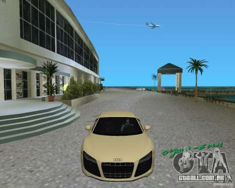 Audi R8 5.2 Fsi para GTA Vice City vista direita