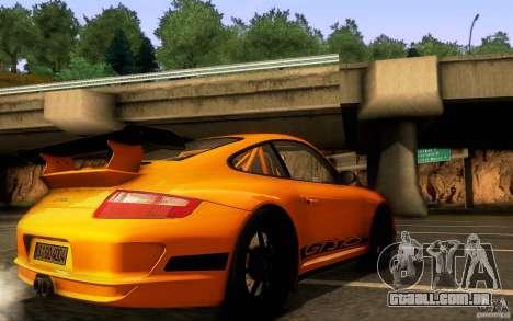 Porsche 911 GT3 RS para GTA San Andreas vista superior