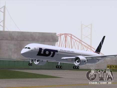 Boeing 787-9 LOT Polish Airlines para GTA San Andreas vista direita