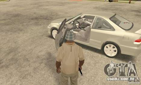 Honda Civic 1998 para GTA San Andreas vista traseira
