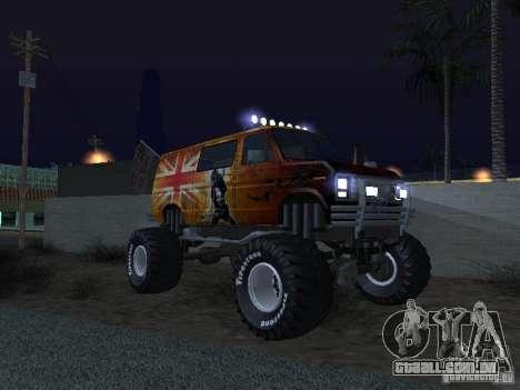 Ford Grave Digger para GTA San Andreas vista interior