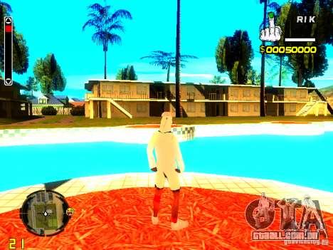 Pele vagabundo v9 para GTA San Andreas por diante tela