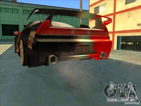 Acura NSX 1991 Tunable para GTA San Andreas vista inferior