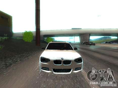 BMW M135i para vista lateral GTA San Andreas