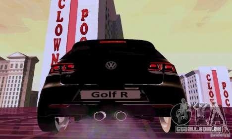 Volkswagen Golf GTI 2011 para GTA San Andreas traseira esquerda vista