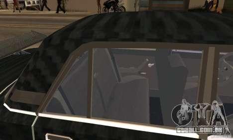 LADA 2107 Turbo para GTA San Andreas vista traseira