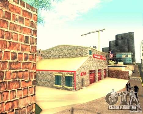 Novo quartel de bombeiros em San Fierro para GTA San Andreas terceira tela