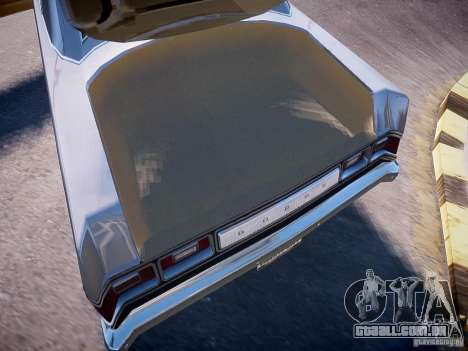 Dodge Dart 1975 para GTA 4 vista interior